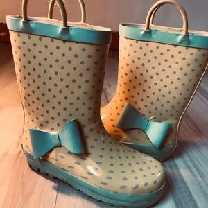 Girls Sz11.5 Western Chief Rain Boots-W/Bow